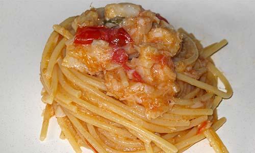 spaghetti con baccala